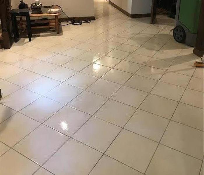 sparkling clean tile floor