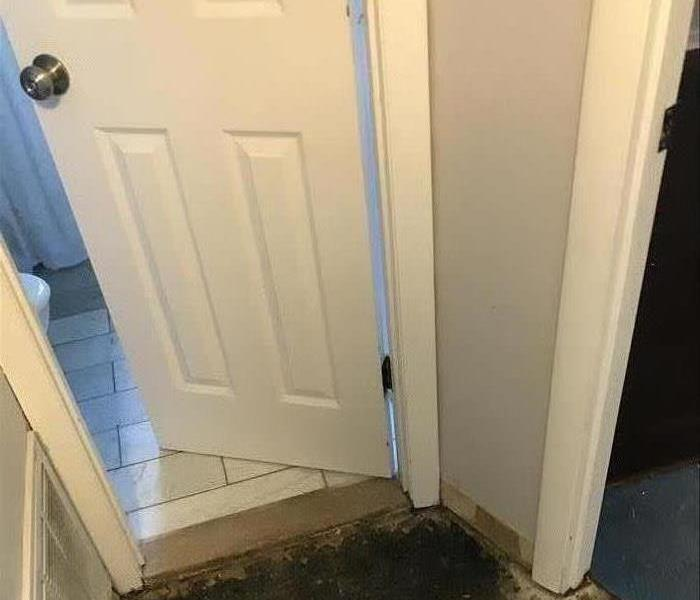 wall between 2 doors that was damaged by water