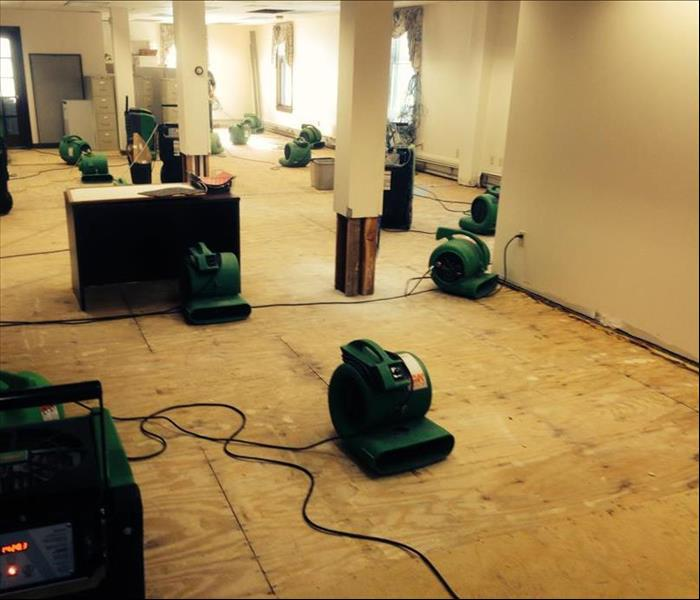Commercial cleaning water damage mitigation